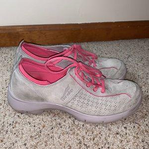 Dansko Gray Suede Slip Resistant Sneakers- 39